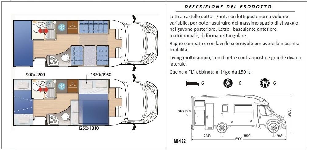 Camper Letto Matrimoniale Posteriore.Noleggio Camper Autocaravan Arezzo Vendita Camper Nuovo E Usato